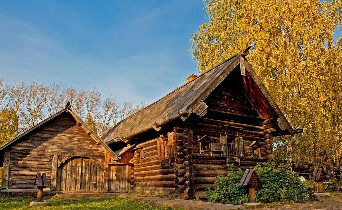 Русская старинная изба картинки